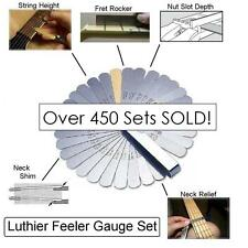 MusicianAtHeart Luthier FEELER GAUGE SET Fret Rocker String Height Guitar Tool