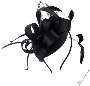 Fascinator Hats For Women Ladies Feather Cocktail Party Hats Bridal Headband