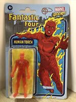 "Fantastic Four Human Torch Retro Marvel Legends Kenner Action Figure 3.75"" New"