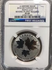 2016 Canada Silver Historic Reign 4 Maple Leaf Reverse Proof Coin Gold PF69 NGC