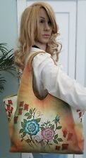 Great American Leather Works multi color hand painted shoulderbag