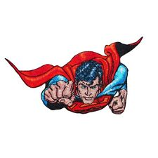 Superman to the Rescue Patch Flying Man of Steel DC Superhero Iron-On Applique