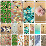 Transparent Various Pattern Hard Plastic Back Case Cover For iPhone 5 5S 5C 6 7