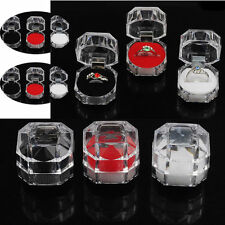 Wholesale 12pcs Lots Plastic Crystal Jewelry Ring Display Storage Boxes