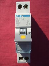 Réf MFN706  DISJONCTEUR HAGER 1P+N 6A 3Ka COURBE C 230;400V NEUF