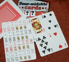 Four-midable Cards -Jumbo torn and restored, w/ gag, then revelation Tmgs