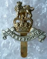 VINTAGE Royal Army Pay Corps Officer's Cap Badge QC Slider Bi-Metal Genuine