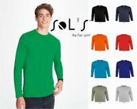 SOL'S - Monarch Long Sleeve T-Shirt - 100% Cotton - Various Colours