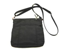 Travelsmith by Pacsafe Black Purse Crossbody Shoulder Bag RFID Safe Zip Top