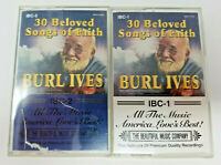 Burl Ives - 30 Beloved Songs of Faith - 2 Cassette Tapes 1995 IBC-1 and IBC-2