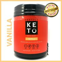 Perfect Keto Vanilla Whey Protein Powder Isolate W/ MCT Powder 100% Grass Fed