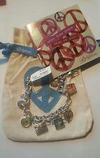 Brighton Peace Charming Charm Bracelet NWT, Booklet, Pouch Imagine  D29510