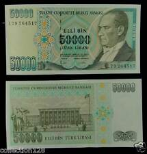Turkey Paper Money 50000 Lirasi 1995 UNC