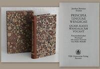 Ticinus: Principia Linguae Wendicae -Reprint 1985 Wendisch Sprachwissenschaft xz