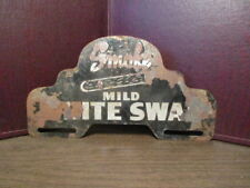 "Vintage Advertising License Plate Bracket ""SMOKE MILD WHITE SWAN - Cigars - Auto"