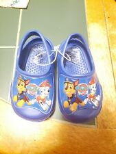 Paw Patrol Style Crocs Blue Size 5/6 Toddlers