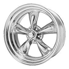 """15"""" Staggered Polished Wheels Rims 5x4.75 Chevy Chevelle 1964-1972 Package 7/8"""