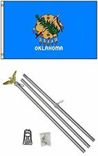 3x5 State of Oklahoma Flag Aluminum Pole Kit Set 3'x5'