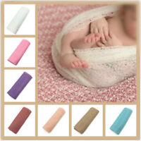 50*160cm Newborn Stretch Knit Wrap Photography Nubble Wraps Props Baby Kids Cozy