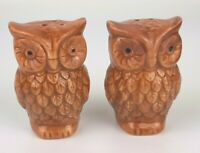 OWL Salt & Pepper Shaker Set Ceramic Thanksgiving gift country kitchen fall
