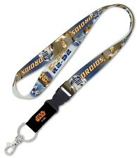 "Star Wars C-3PO R2-D2 Droids Original Trilogy 1"" Lanyard with Detachable Buckle"