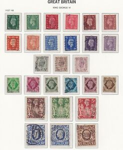 Lot:38330  GB GVI  1937-48  Definitive issues inc High Values