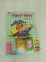 Vintage Whitman Tiny Tots Kids Coloring Book Jumbo Pictures