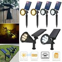 2x 7 LED Solar Power Auto Spot Light Outdoor Garden Landscape Path Wall Lamp USA