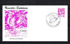 Nouvelle-Calédonie   enveloppe  série courant  le cagou   1992