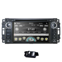 Car Radio CD DVD Player GPS Sat-Nav BT fit Jeep Grand Cherokee Dodge Chrysler