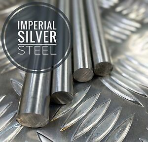 """Imperial Silver Steel Bar Ground Shafting 1/16 To 2"""" Inch x 13"""" Long"""