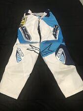 AXO Motion Pants TC222 White/Blue Size 34