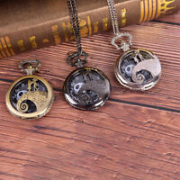 Retro Steampunk Nightmare Before Christmas Quartz Pocket Watch Lovers Gifts NT