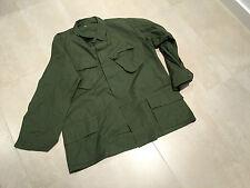 vietnam slant,pocket rip stop shirt100% cotton,1975 ,nos, large long