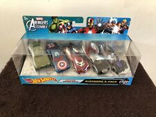 Hot Wheels Marvel Avengers Assemble 5 Pack With Exclusive Iron Man