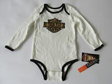 Harley-Davidson Motorcycle Infant Unisex Long Sleeve Bodysuit One-Piece New 18M
