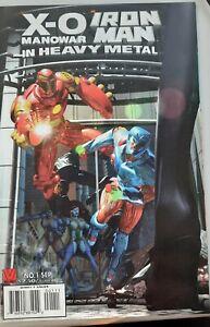 1996 Valiant X-O MANOWAR IRON MAN In HEAVY METAL #1 Andy Smith cover