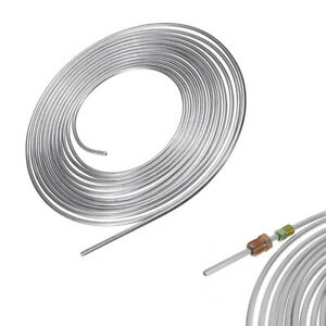 Iron zinc Nickel Brake Line Tubing Kit 3/16 OD 25 Foot Coil Roll Fit For Car
