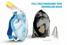 Full face Snorkel Mask 180 view - Blue - large / extra-large