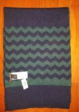NWT Banana Republic Chevron Blue & Green Wool Blend Scarf One Size $59.50