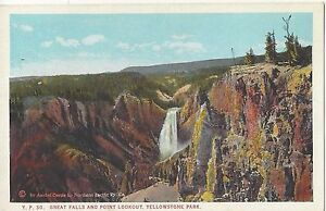 1926 Great Falls and Point Lookout Yellowstone Park