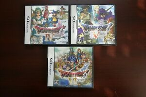 Nintendo DS Dragon Quest 4 5 6 IV V VI Japan import NDS games US Seller
