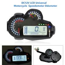 DC12V LCD Universal Motorcycle Refit Speedometer Odometer RPM  Speed Fuel Gauge