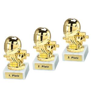 3 Motorsport-Pokale mit 1.2.und 3.Platz oder Wunschgravur (P0262)