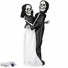 Halloween Gothic Skeleton Bride And Groom 41cm Wedding Couple Decoration Prop