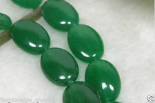 New 13x18mm Natural Green Emerald Oval Gemstones Jade Loose Beads 15''