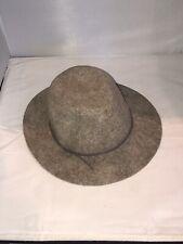 Light Brown Heather Wool Felt Hat Attack Fedora From Barneys