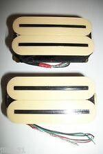 NEW set ARTEC HOT RAILS - HXTN - humbuckers cream color - rails nickel black
