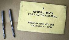 "2  #30 Essanay Push Drill Bit Point 1/8"" Fits Bell Stanley Craftsman Handyman"
