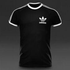 adidas Originals 3S Mens Sports Essentials T-Shirt Navy Black California Tee Top